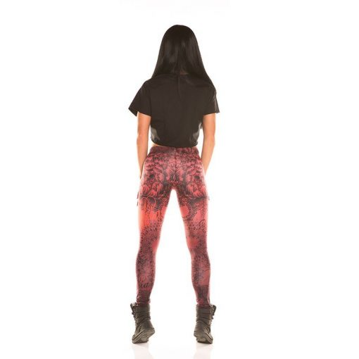 Nebbia Art Collection - Sportlegging Dames Rood-3