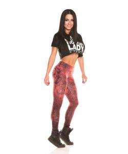 Nebbia Art Collection - Sportlegging Dames Rood-2