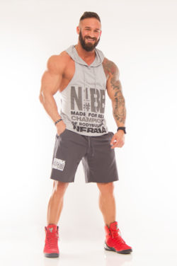 Nebbia Hooded Singlet 974 - Fitness Singlet Grijs-1