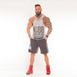Nebbia Hooded Singlet 974 - Fitness Singlet Grijs-2