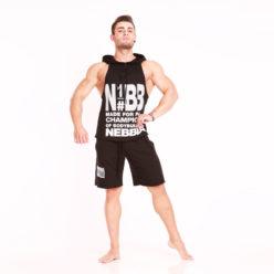 Nebbia Hooded Singlet 974 - Fitness Singlet Zwart-1