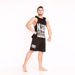 Nebbia Hooded Singlet 974 - Fitness Singlet Zwart-2