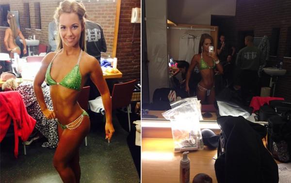 Tamara Miesen Bodybuilding Kleding atleet Belgische Kampioenschappen bikini voorbereiding
