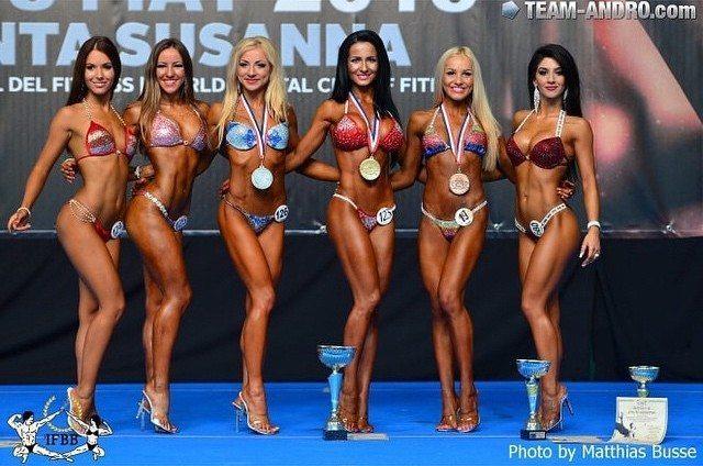 Tamara Miesen Bodybuilding Kleding atleet Europese Kampioenschappen bikini 6e plaats