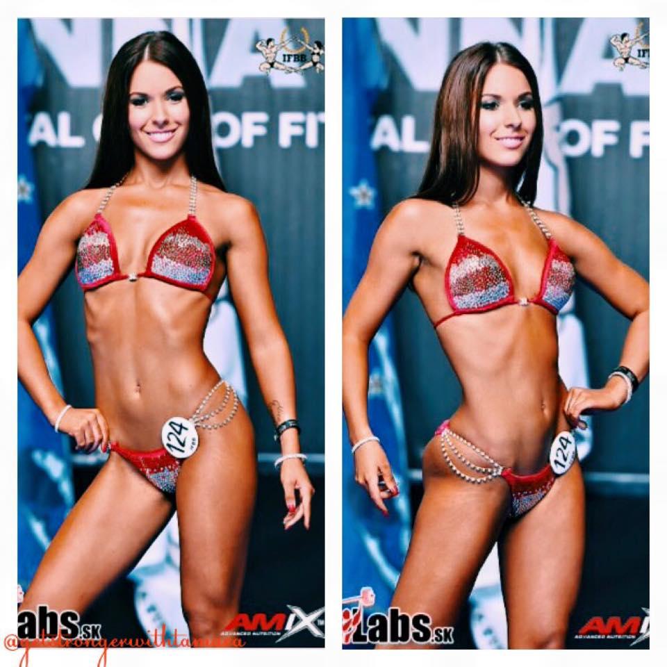 Tamara Miesen Bodybuilding Kleding atleet Europese Kampioenschappen bikini