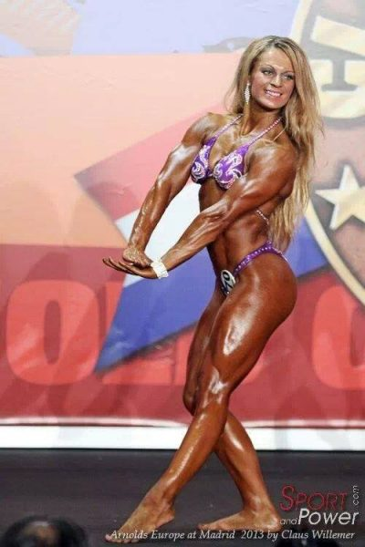 Evelien Nellen Bodybuilding Kleding atleet Arnolds Europe Madrid 2013