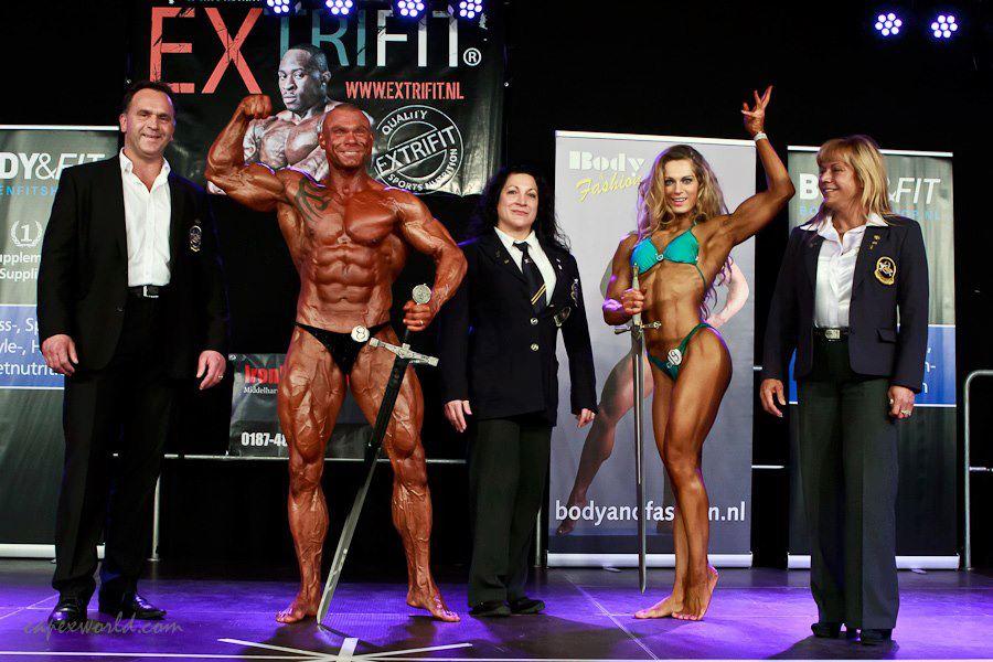 Evelien Nellen Bodybuilding Kleding atleet Winnares Ironman Ironmailden 2012
