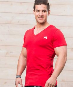 Aesthetix Era V-Neck Bodybuilding T-shirt Rood