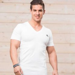 Aesthetix Era V-Neck Bodybuilding T-shirt Wit