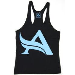 Aesthetix Era bodybuilding stringer singlet zwart blauw voorkant