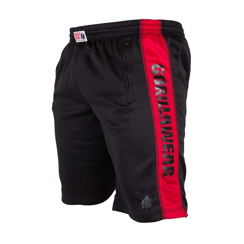 Gorilla Wear Track Shorts ZwartRood
