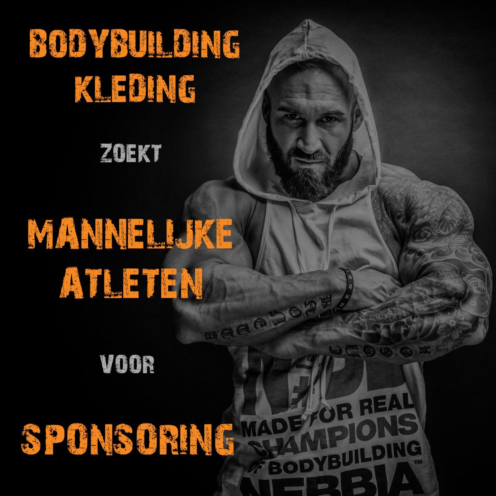 Bodybuilding Kleding sponsoring mannelijke bodybuilding atleten