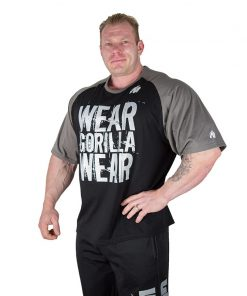 Gorilla Wear Colorado Oversized T-Shirt Zwart-Grijs-1