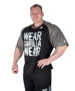 Gorilla Wear Colorado Oversized T-Shirt Zwart-Grijs-1