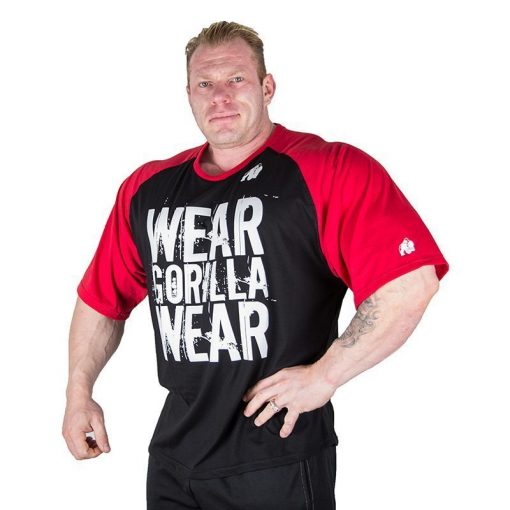 Gorilla Wear Colorado Oversized T-Shirt Zwart-Rood-1