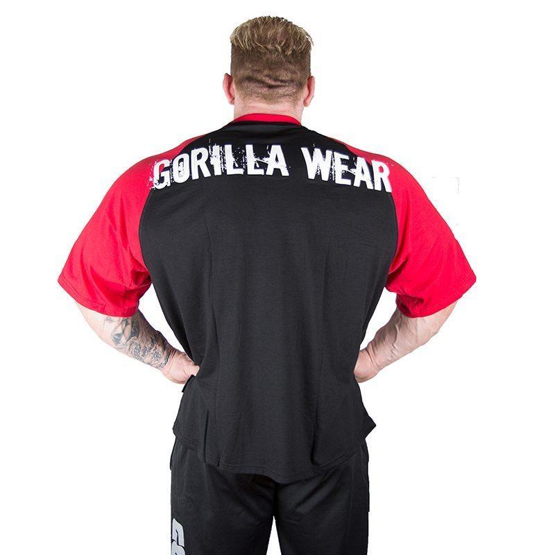 Gorilla Wear Colorado Oversized T-Shirt Zwart-Rood-2
