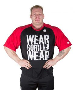 Gorilla Wear Colorado Oversized T-Shirt Zwart-Rood