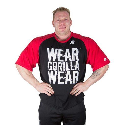 Gorilla Wear Colorado Oversized T-Shirt Zwart-Rood
