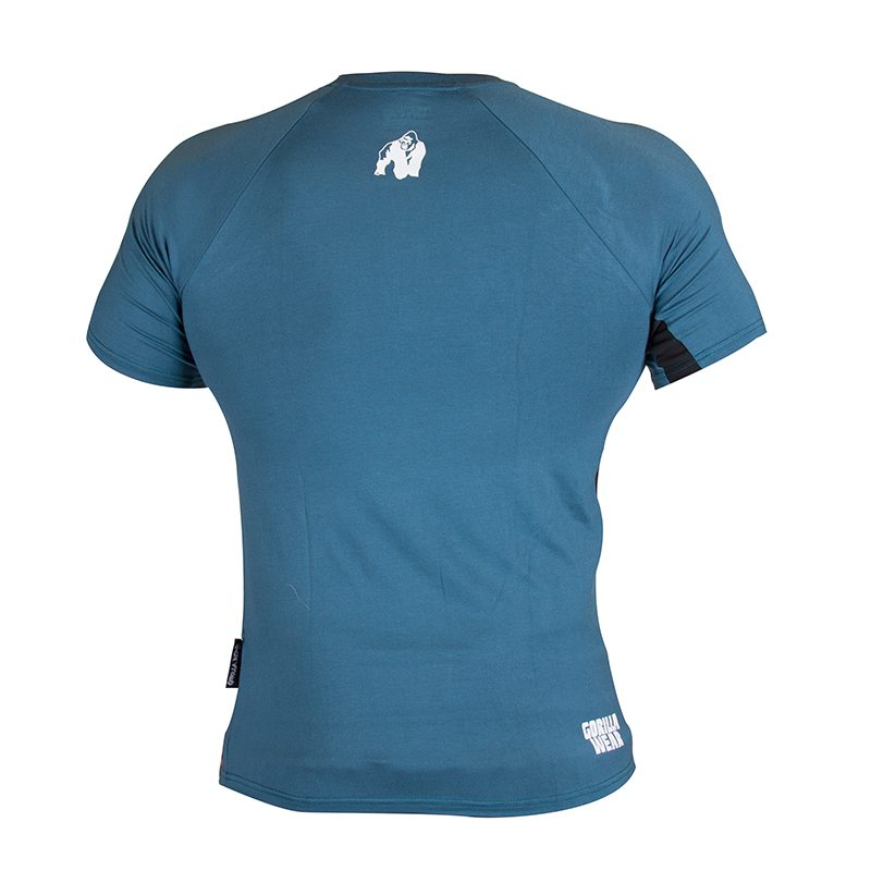 Gorilla Wear Stretch Tee Blauw-1