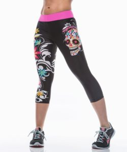 Korte Legging MyWay2Fitness - Sugarskull Perfection CandyCrush-1