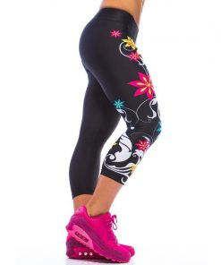 Korte Legging MyWay2Fitness - Sugarskull Perfection Nightshadow-3