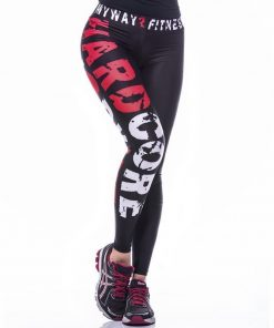 Sportlegging MyWay2Fitness - Hardcore Workout Rood-1
