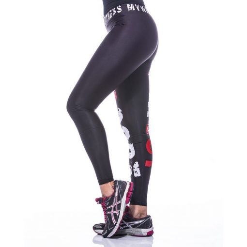 Sportlegging MyWay2Fitness - Hardcore Workout Rood-3