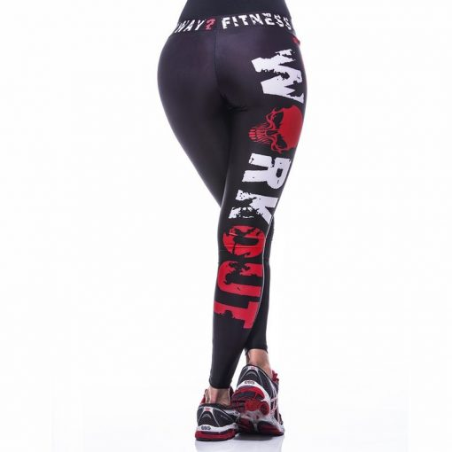Sportlegging MyWay2Fitness - Hardcore Workout Rood-4
