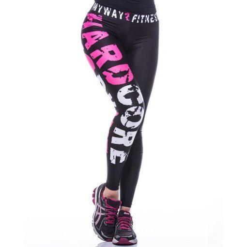 Sportlegging MyWay2Fitness - Hardcore Workout Roze-1