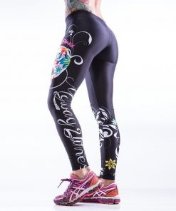 Sportlegging MyWay2Fitness - Sugarskull Perfection Nightshadow-2