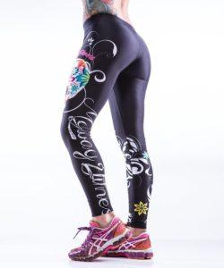 Sportlegging MyWay2Fitness - Sugarskull Perfection Nightshadow-2