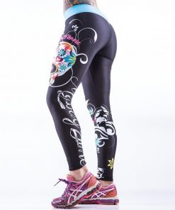 Sportlegging MyWay2Fitness - Sugarskull Perfection Oceanblue-1
