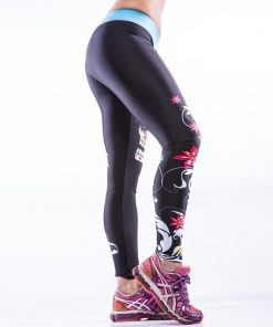 Sportlegging MyWay2Fitness - Sugarskull Perfection Oceanblue-2