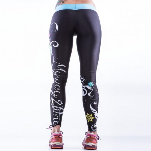 Sportlegging MyWay2Fitness - Sugarskull Perfection Oceanblue-3