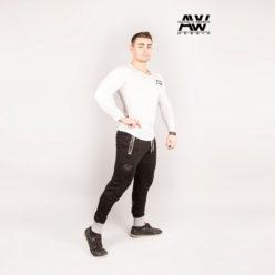 Nebbia Sweatpants 108 - Bodybuilding Lange Broek Zwart-2