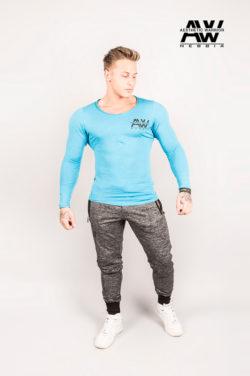 Nebbia T-Shirt 119 - Bodybuilding Longsleeve Blauw-1