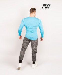 Nebbia T-Shirt 119 - Bodybuilding Longsleeve Blauw-3
