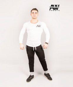 Nebbia T-Shirt 119 - Bodybuilding Longsleeve Wit-1