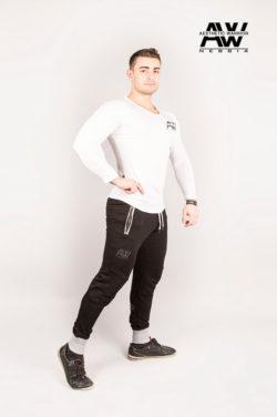 Nebbia T-Shirt 119 - Bodybuilding Longsleeve Wit-2