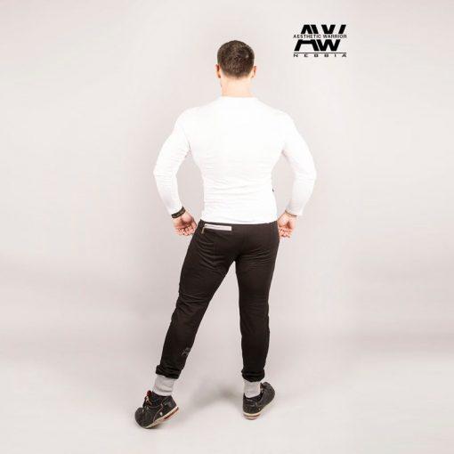 Nebbia T-Shirt 119 - Bodybuilding Longsleeve Wit-3