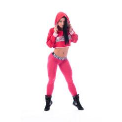 Hooded Korte Sporttop Rood - Nebbia 275 1