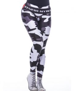 Sportlegging MyWay2Fitness - Camouflage Blackbird-1