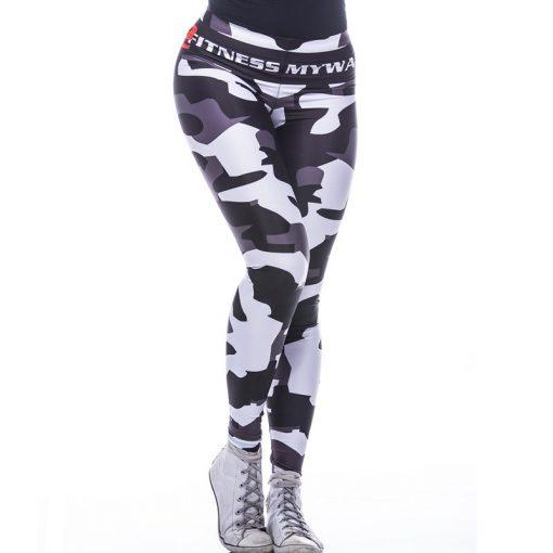 Sportlegging MyWay2Fitness - Camouflage Blackbird-1
