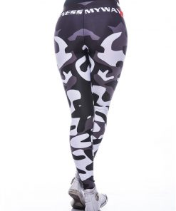 Sportlegging MyWay2Fitness - Camouflage Blackbird-3