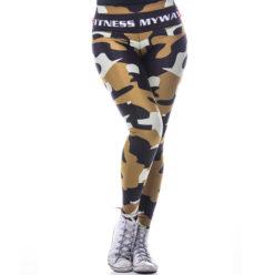 Sportlegging MyWay2Fitness - Camouflage Golden-Olive-1