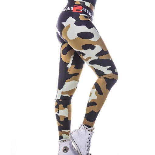 Sportlegging MyWay2Fitness - Camouflage Golden-Olive-2