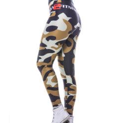 Sportlegging MyWay2Fitness - Camouflage Golden-Olive-4