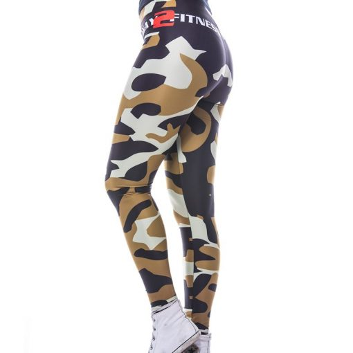 Sportlegging MyWay2Fitness - Camouflage Golden-Olive-4