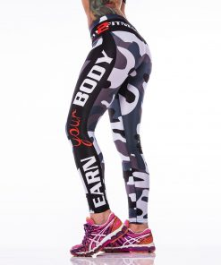 Sportlegging MyWay2Fitness - Earn Your Body Camo-2