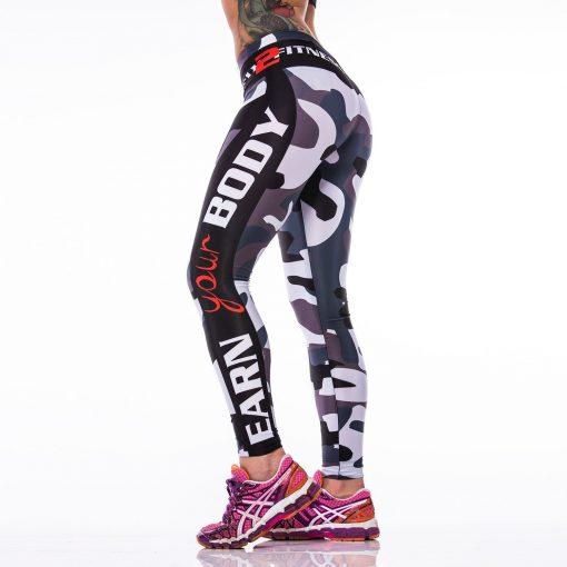 Sportlegging MyWay2Fitness - Earn Your Body Camo-2